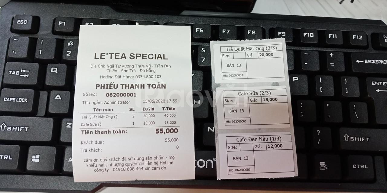 Setup trọn bộ máy tính tiền cho quán trà chanh giá rẻ tại Sơn Trà