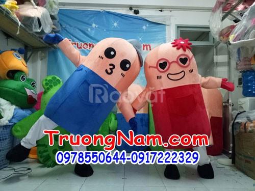 May mascot mô hình quảng cáo thương hiệu