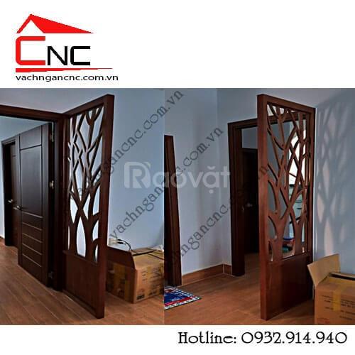 Phòng khách - nơi lý tưởng dùng mẫu vách ngăn gỗ cnc (ảnh 7)