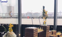 Trọn bộ khay, kệ đựng buffet bằng gỗ thương hiệu Lacosa