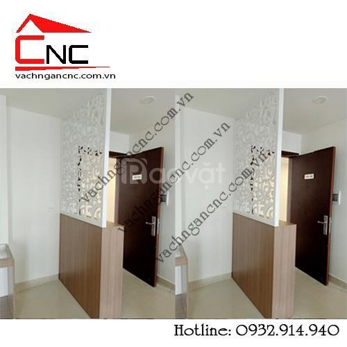 Phòng khách - nơi lý tưởng dùng mẫu vách ngăn gỗ cnc (ảnh 4)