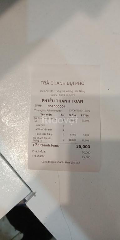 Bộ máy tính tiền dành cho quán trà chanh bụi phố giá rẻ (ảnh 5)