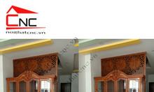 Vách ngăn gỗ cnc cho phòng khách và bếp đẹp