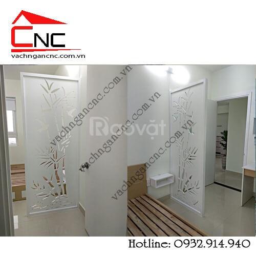 Phòng khách - nơi lý tưởng dùng mẫu vách ngăn gỗ cnc (ảnh 1)
