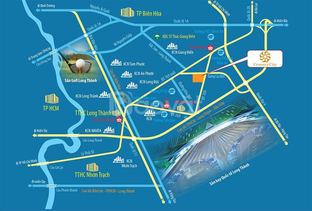 Đất nền sổ đỏ thành phố sân bay Long Thành, MT đường DT 769