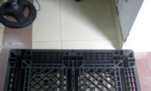 Cung cấp Pallet nhựa mới 1100x1100x150mm màu đen LH 0988 081327