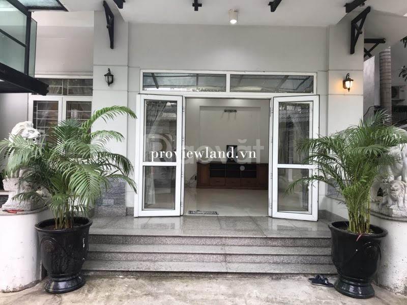 Bán biệt thự mặt tiền Thảo Điền Quận 2, 3 tầng, hồ bơi sân vườn