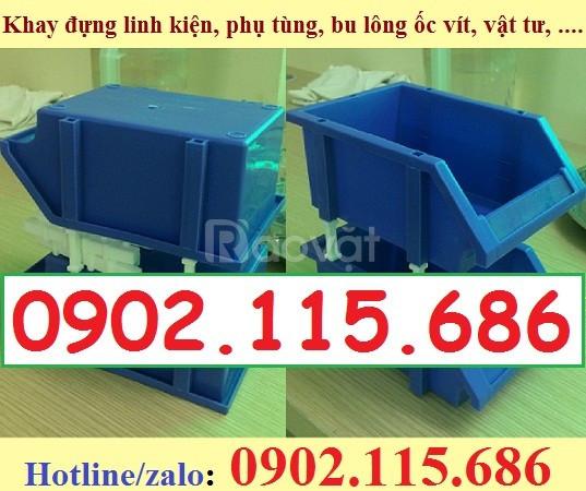 Khay linh kiện xếp tầng, khay nhựa xếp tầng, kệ dụng cụ xếp tầng (ảnh 7)