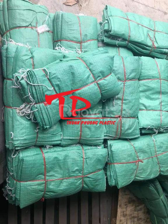 Bao tải dứa màu xanh, sản xuất bao PP dệt hàng chợ