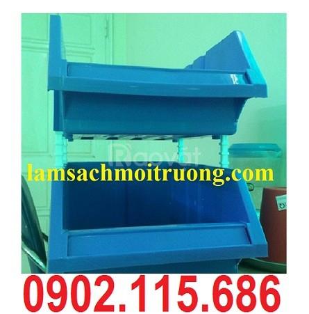 Khay linh kiện xếp tầng, khay nhựa xếp tầng, kệ dụng cụ xếp tầng (ảnh 1)
