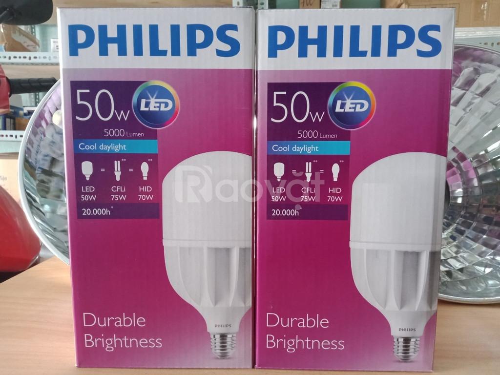 Bán bóng led bulb 50W Philips trụ công suất cao