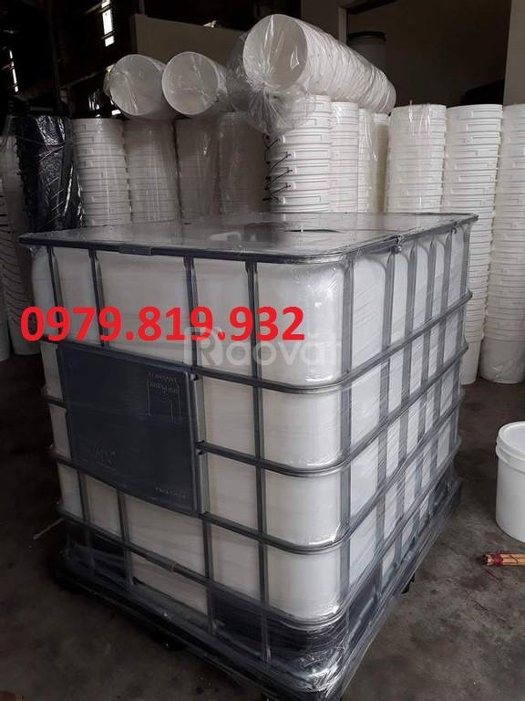 Bán thùng nhựa vuông 1000l mới 100%