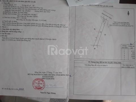236m2  mặt tiền kinh doanh đường Hùng Vương, Phước An, giá 3,2 tỷ
