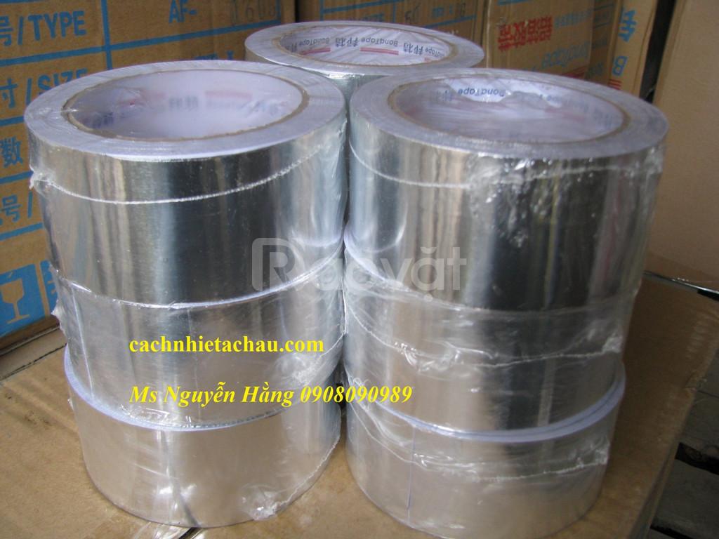 Băng keo nhôm dùng dán mối nối bông thủy tinh cách nhiệt
