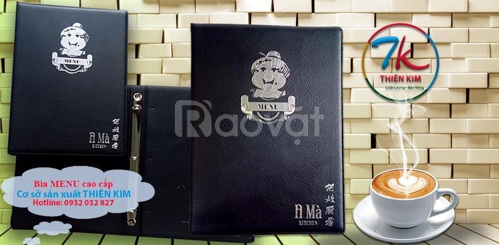 Làm bìa menu da, nơi làm menu nhà hàng, in cuốn thực đơn bằng da