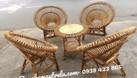 Bàn ghế sen mây cafe (ảnh 1)