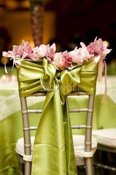 Dụng cụ trang trí bàn tiệc Lacosa, nơ ghế tiệc sang trọng và cao cấp
