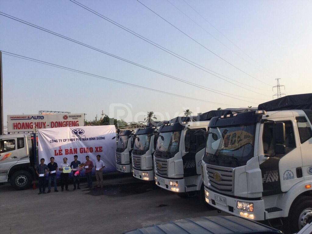 Xe tải thùng dài 10m, xe tải faw 7t25 thùng dài 10m độc quyền.