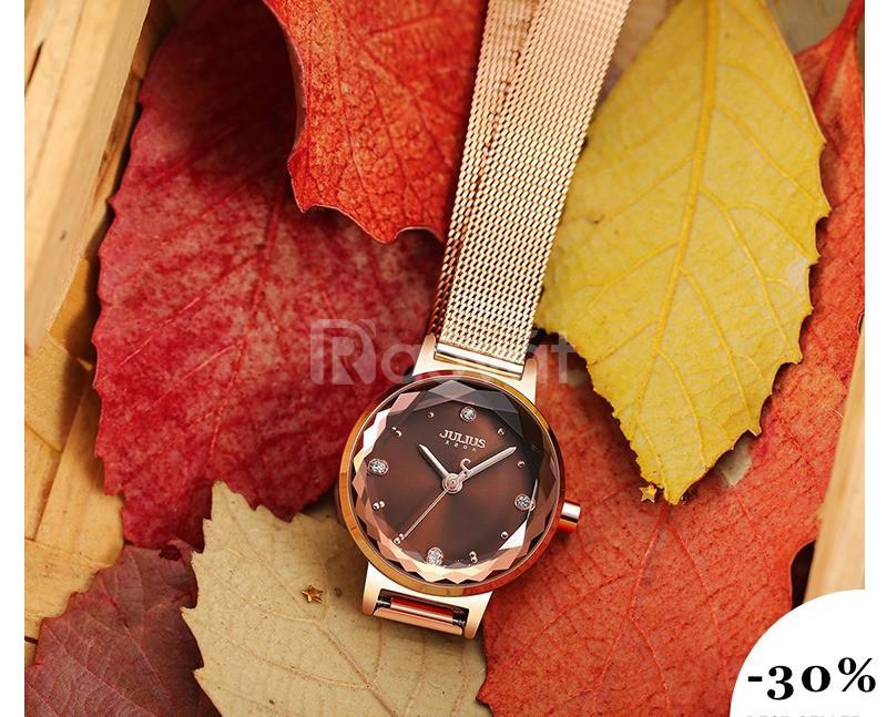 Đồng hồ nữ Julius Hàn Quốc chính hãng JA-917D dây thép