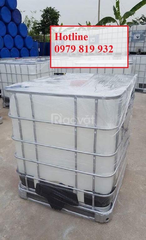 Bán tank IBC 1000l có khung sắt, bồn nhựa có van xả (ảnh 7)