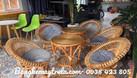 Bàn ghế sen mây cafe (ảnh 5)