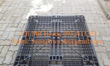 Pallet nhựa cũ 1100 x 1100 x 120 mm kê hàng, xuất khẩu giá rẻ