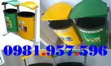 Thùng rác có mái che, thùng rác mái che 2 ngăn