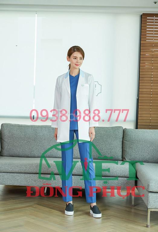 Nhận may áo blouse bác sĩ Hà Nội