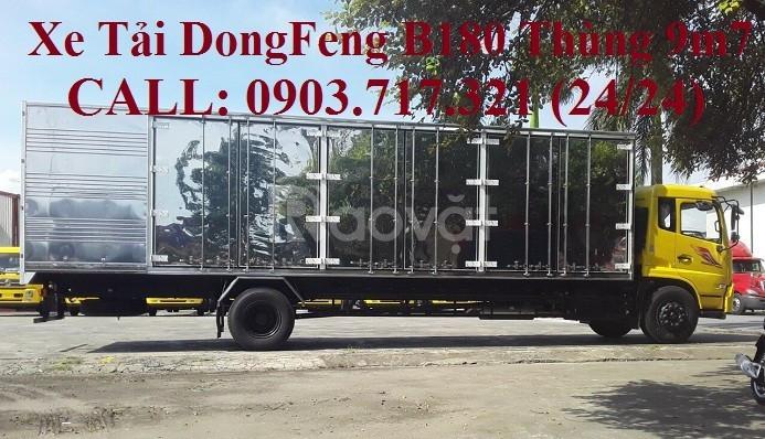 Bán xe tải DongFeng B180 thùng kín dài 9m5 tải 7t5