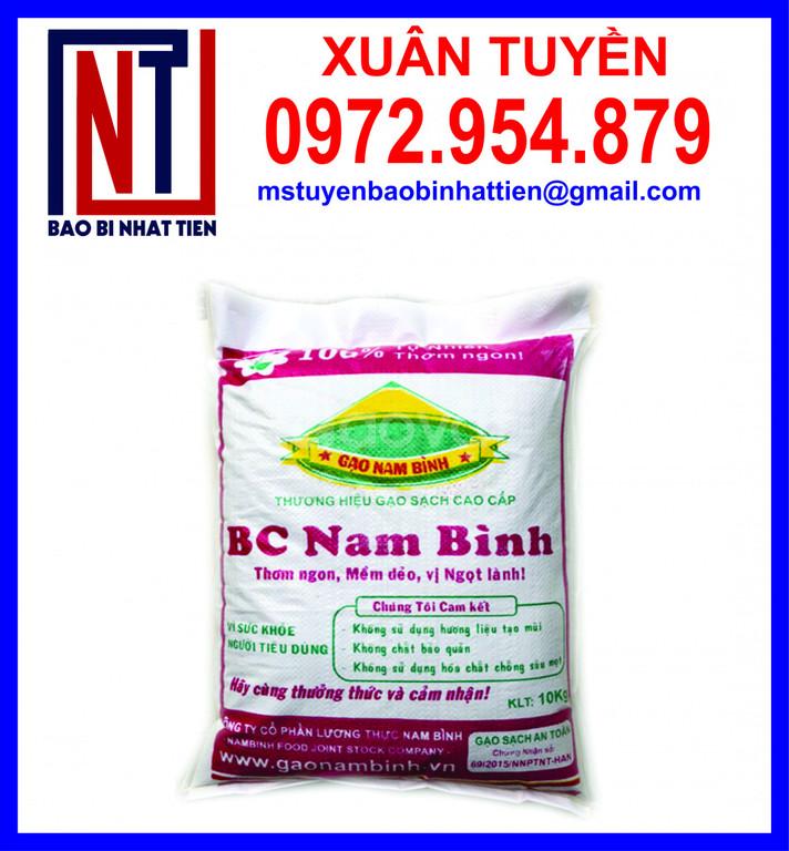 Bao bì đựng gạo 10kg in flexo
