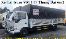 Xe tải Isuzu Vĩnh Phát 1T9 thùng dài 6m2 giá mới bán tháng 06
