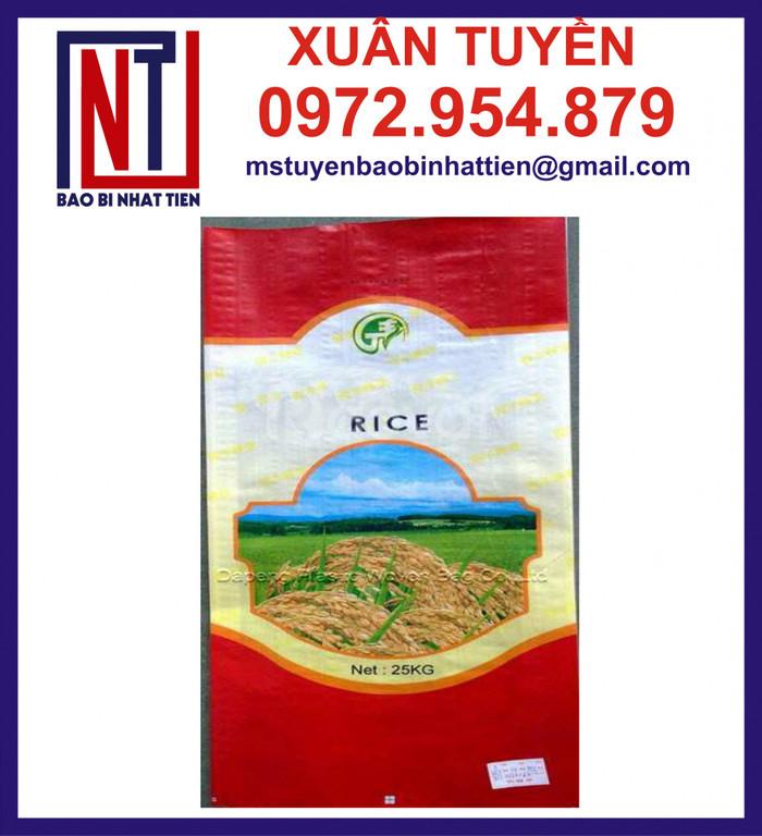 Bao PP đựng gạo 10kg, bao gạo 10kg in ống đồng chất lượng