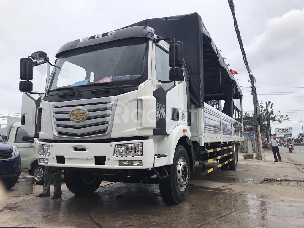 Xe tải thùng dài, faw 8 tấn thùng dài gần 10m ( 9m7) KM 10tr