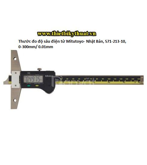 Thước đo độ sâu điện tử- Nhật Bản, 571-213-10, 0-300mm/ 0.01