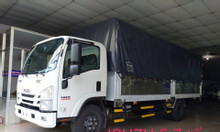 isuzu 5.7 tấn, thùng Bạt 6.2m, KM máy lạnh, 9 phiếu bảo dưỡng