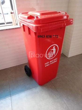 Thùng rác nhựa hdpe 120 lít
