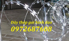 Dây thép gai hình dao cứng cáp làm hàng rào chống trộm