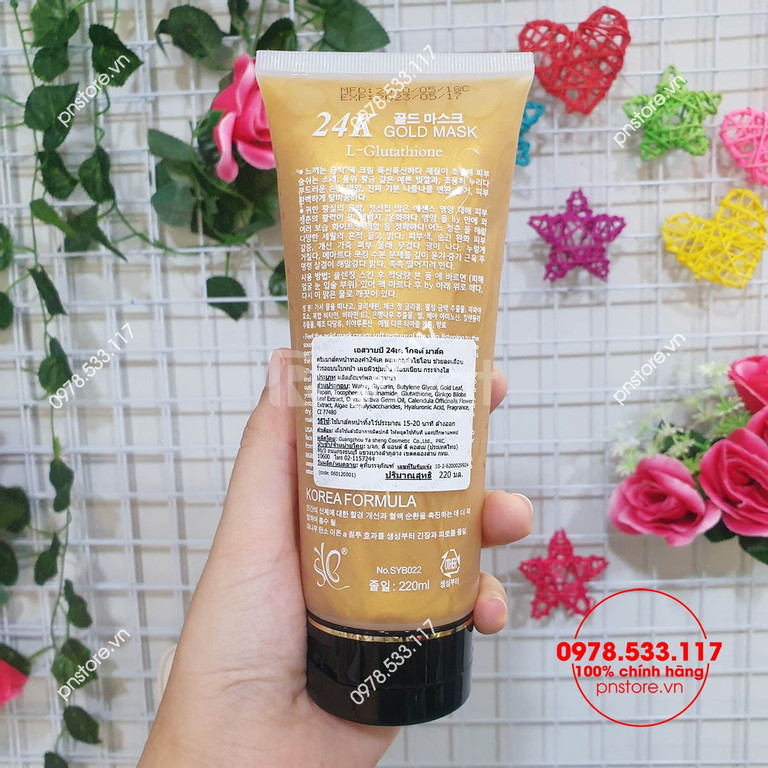 Gel mặt nạ vàng 24K Gold Mask L-Glutathione 220ml chính hãng Thái Lan (ảnh 4)