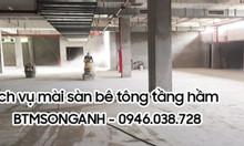 Thi công mài đánh bóng sàn bê tông tầng hầm - BTMSONGANH