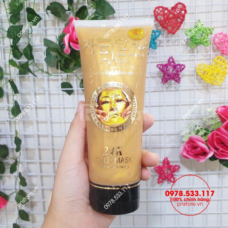 Gel mặt nạ vàng 24K Gold Mask L-Glutathione 220ml chính hãng Thái Lan (ảnh 1)