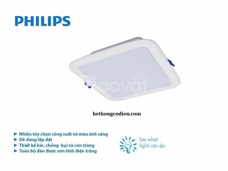 Đèn led downlight Philips vuông 10w