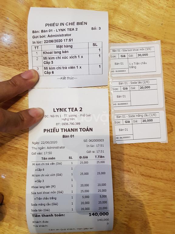 Bộ máy tính tiền cảm ứng cho quán trà sữa tại Hưng Yên giá rẻ (ảnh 6)