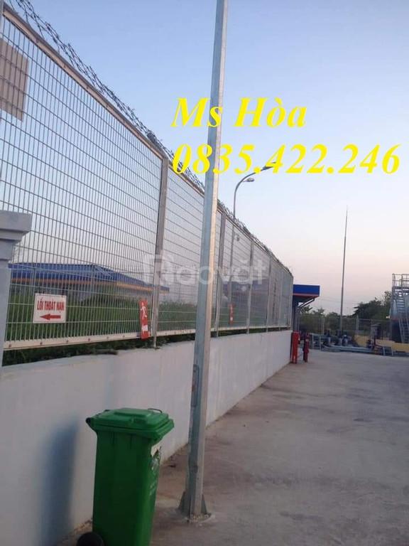 Lưới thép hàng rào, lưới thép hàng rào mạ kẽm chắn sóng