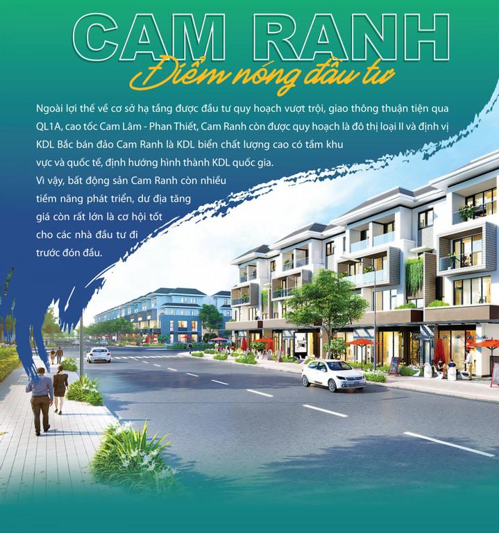 Đất biển Cam Lâm mà giá đầu tư chỉ hơn 800tr/lô