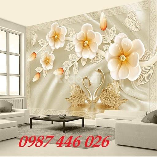 Tranh dán tường, tranh gạch hoa 3d