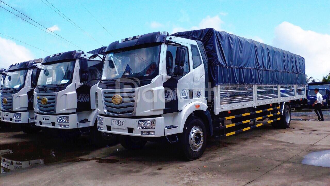 Xe tải thùng dài 10m giá rẻ ở Bình Dương   faw 8 tấn thùng dài 10m.