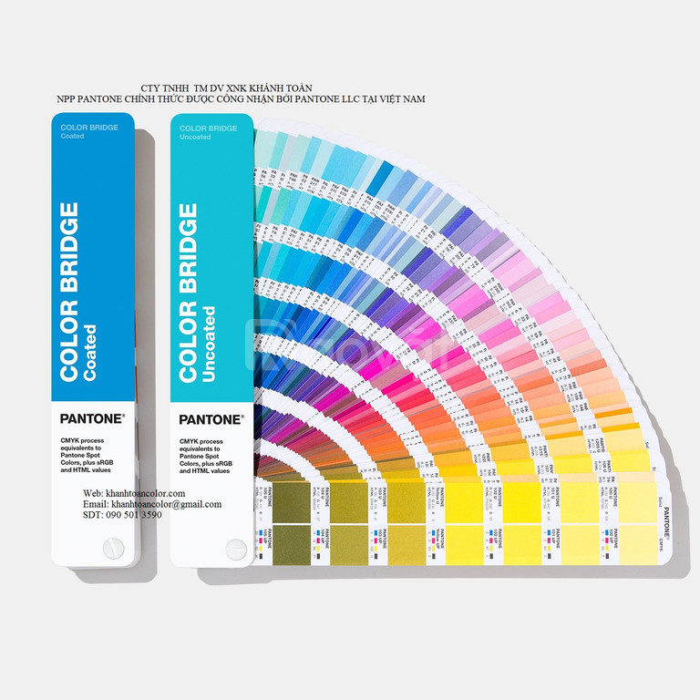Bảng màu Pantone Color Bridge Coated Uncoated GP6102A phiên bản 2020  (ảnh 1)
