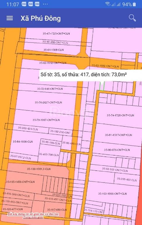 Chính chủ cần bán 108m2 thổ cư 100%, giá 850 triệu, SHR, xã Phú Đông