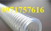 Ống hút bụi gân nhựa trắng, ống bụi màu trắng