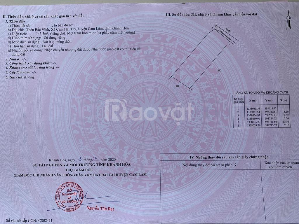 Chỉ 868tr, sở hữu ngay đất Đầm Thủy Triều, Bãi Dài, Cam Lâm